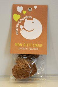 Biscuits Mon P'tit Coeur banane ASTON'S COOKIES chez IDÉFIX Toilettage